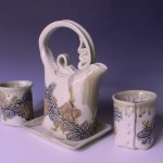 White Gold 2-cup Teaset
